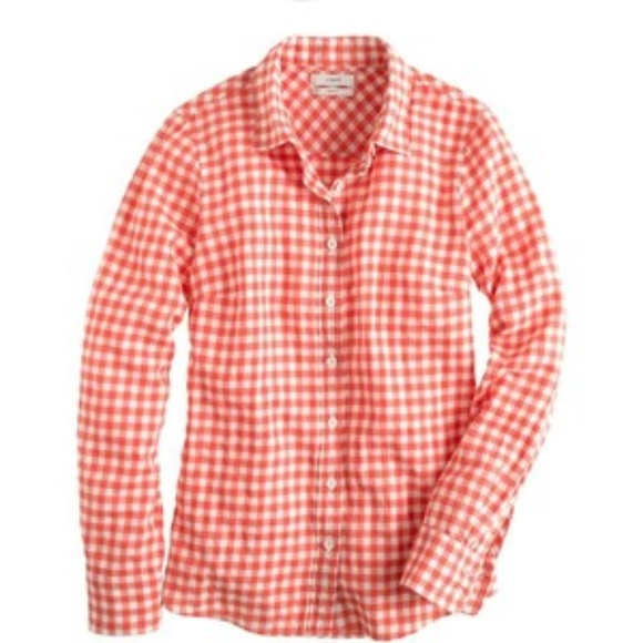 J. Crew Tops - J CREW Perfect shirt in gingham flannel 4